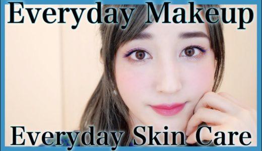 4月のスキンケアと毎日メイク💕Everyday Makeup|Skincare【April】ブルーマスカラで透明感なアイメイク♥