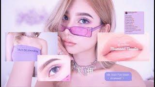 💜ヌードパープルメイクNude Purple Makeup!!