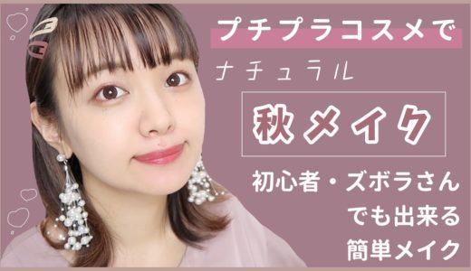 【秋メイク】誰でもできる簡単ズボラメイク【初心者さん向け/プチプラコスメ】