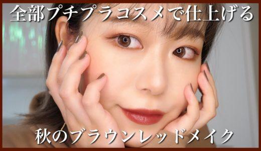 【プチプラ】秋のブラウンレッドメイク🌾【秋メイク】BrownRedFall makeup by桃桃