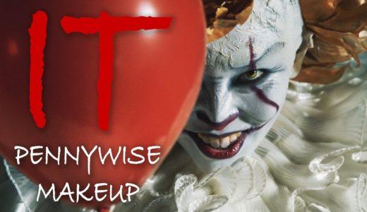 映画『IT/イット』ペニーワイズメイク |  IT Movie – Pennywise Makeup Tutorial【ハロウィンメイク】
