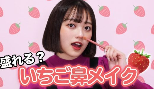 【話題】ツイッターで人気のいちご鼻メイク🍓やってみたよ!
