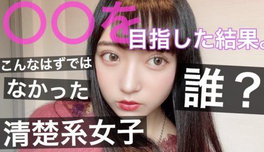 清楚系女子〇〇を目指したメイク【誰?】