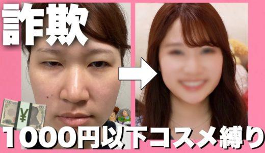 【1000円以下縛り】プチプラコスメで詐欺れる裸眼メイクをやってみた💄【詐欺メイク】