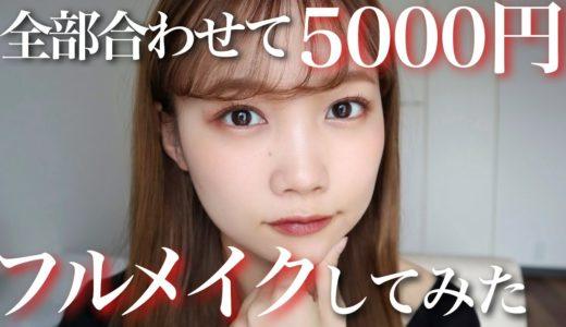 【全部合わせて5000円】プチプラコスメ縛りでナチュラルメイク